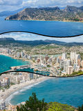 Collage of Calpe, Costa Blanca, Spain Royalty Free Stock Photo