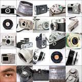 Collage of cameras Stock Photo