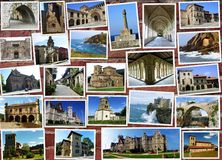 Collage of Cantabria in Spain Stock Photos