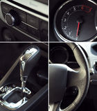 Collage of car interior details Stock Photo