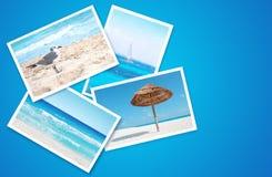 Collage caraibico della spiaggia Immagini Stock Libere da Diritti