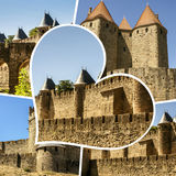 Collage of Carcassone images my photos. Collage of Carcassone images my photos Royalty Free Stock Images