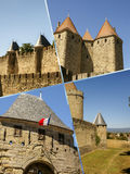 Collage of Carcassonne,France my photos.  Stock Images