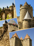 Collage of Carcassonne,France my photos.  Royalty Free Stock Photo