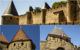 Collage of Carcassonne,France my photos.  Royalty Free Stock Photos