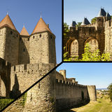 Collage of Carcassonne,France my photos.  Stock Image