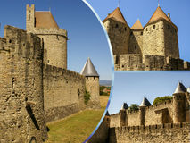 Collage of Carcassonne,France my photos.  Royalty Free Stock Images