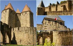 Collage of Carcassonne,France my photos. Collage of Carcassonne,France my photos Stock Photo
