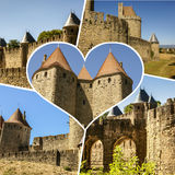 Collage of Carcassonne,France my photos. Collage of Carcassonne,France my photos Stock Photography