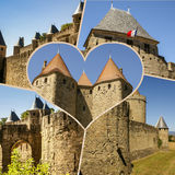 Collage of Carcassonne,France my photos. Collage of Carcassonne,France my photos Royalty Free Stock Images