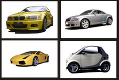 Collage of cars Stock Image
