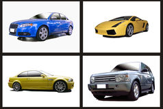 Collage of cars. A collection of motor cars in a collage Royalty Free Stock Photos