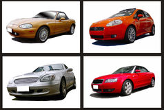 Collage of cars Royalty Free Stock Images