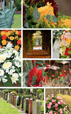 Collage cemetery Royalty Free Stock Photo