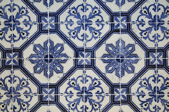 Collage of ceramic tiles from Portugal Royalty Free Stock Images