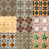 Collage of ceramic tiles from Portugal Stock Photo