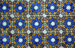 Collage of ceramic tiles from Portugal Stock Photography