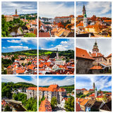 Collage of Cesky Krumlov photos in Czechia