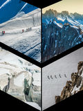 Collage of Chamonix Mont Blanc,France Stock Image