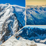 Collage of Chamonix Mont Blanc,France Royalty Free Stock Image