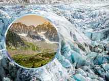 Collage of Chamonix Mont Blanc,France Stock Photo