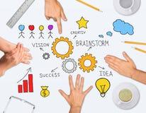 Collage che esprime concetto di successo di affari Fotografie Stock