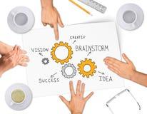 Collage che esprime concetto di successo di affari Immagini Stock