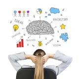 Collage che esprime idea di successo di affari Immagine Stock