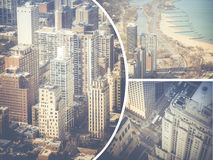 Collage of Chicago ( USA ) images - travel background (my photos Royalty Free Stock Photos