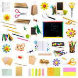 Collage of childish stationery Stock Photography