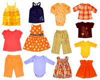 Collage children cloth Stock Images