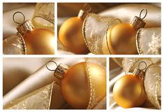 Collage of christmas ball Royalty Free Stock Photography
