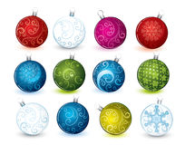 Collage of Christmas balls Stock Photography