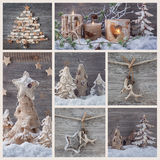 Collage with christmas decoration Stock Photo