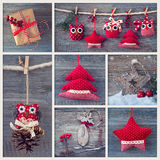Collage with christmas decoration Stock Image