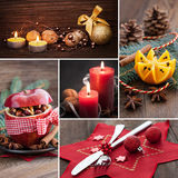 Collage for christmas. With food and stills Royalty Free Stock Photo