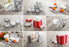 Collage of christmas photos Royalty Free Stock Images