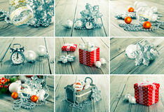 Collage of christmas photos Stock Image