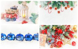 Collage of Christmas pictures. Holidays and events. New year stock image