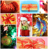 Collage on Christmas theme Stock Image