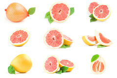 Collage of citrus grandis Stock Photo