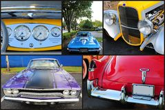 Collage of classic cars Royalty Free Stock Images