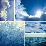 Collage with climatic elements Stock Image