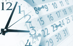 Collage with clock and calendar Royalty Free Stock Photos