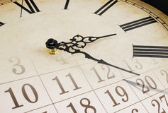 Collage with clock and calendar Stock Image