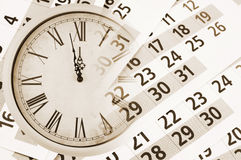 Collage with clock and calendar Royalty Free Stock Photo