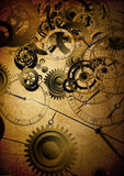 Collage of clocks on vintage background. Collage of clocks on vintage texture Royalty Free Stock Photo