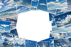 Collage of clouds in a blue sky Stock Photography
