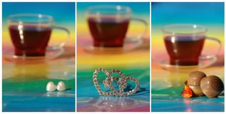 Collage with coffee, chocolate Royalty Free Stock Photos