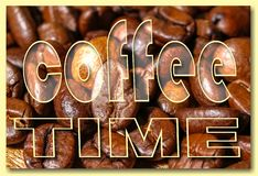 Collage with coffee details royalty free stock photo